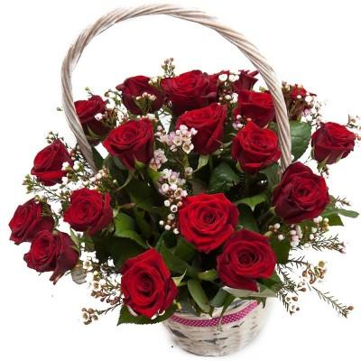 """Kosz """"100 kolorowych róż"""""""