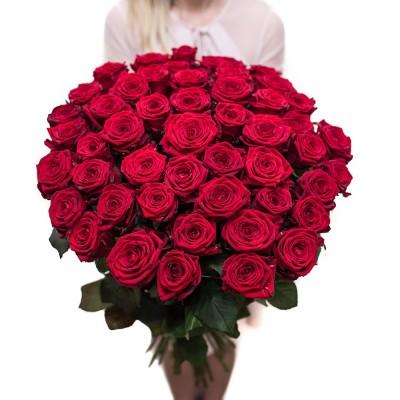 Kreator bukietu z róż (40-50cm) - Czerwone