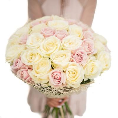 """Bukiet """"40 pastelowych róż"""""""