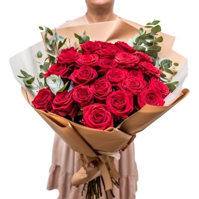 "Bukiet ""Róża z eukaliptusem"""